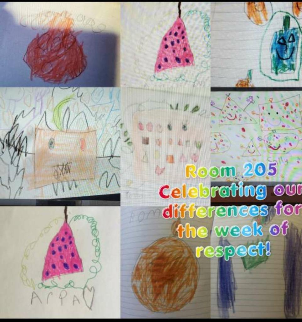 Room 205 celebrates their differences through drawings