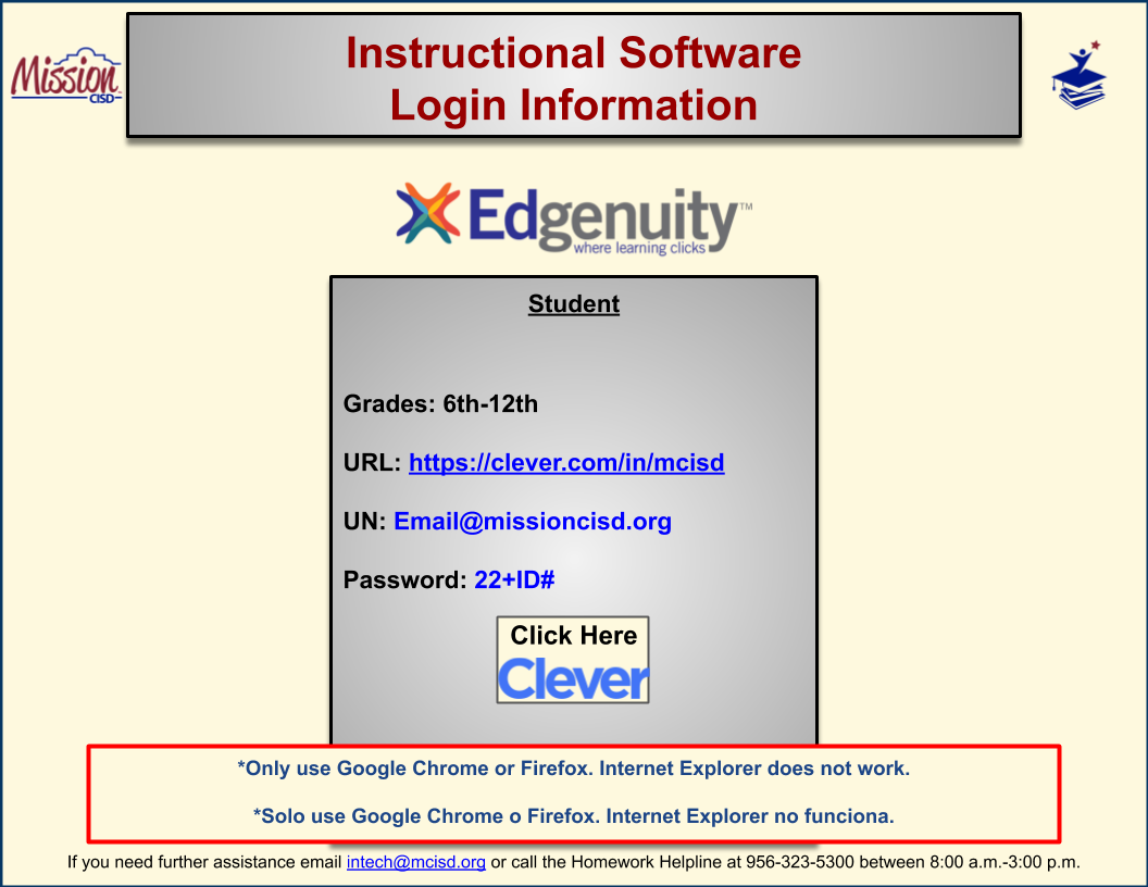 Edgenuity Login Instructions