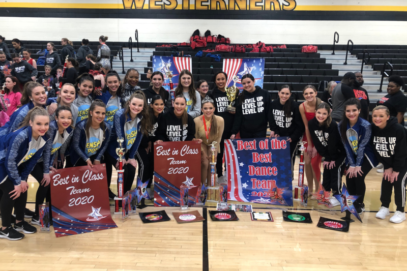 pom squads bring home 20 awards and titles from american dance and drill competition