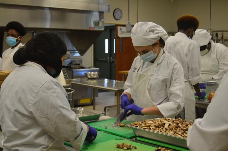 Students in the culinary arts pathway at Golden Isles College and Career Academy began preparations for their upcoming Take & Bake sale, through which the community can order meals that will serve four.