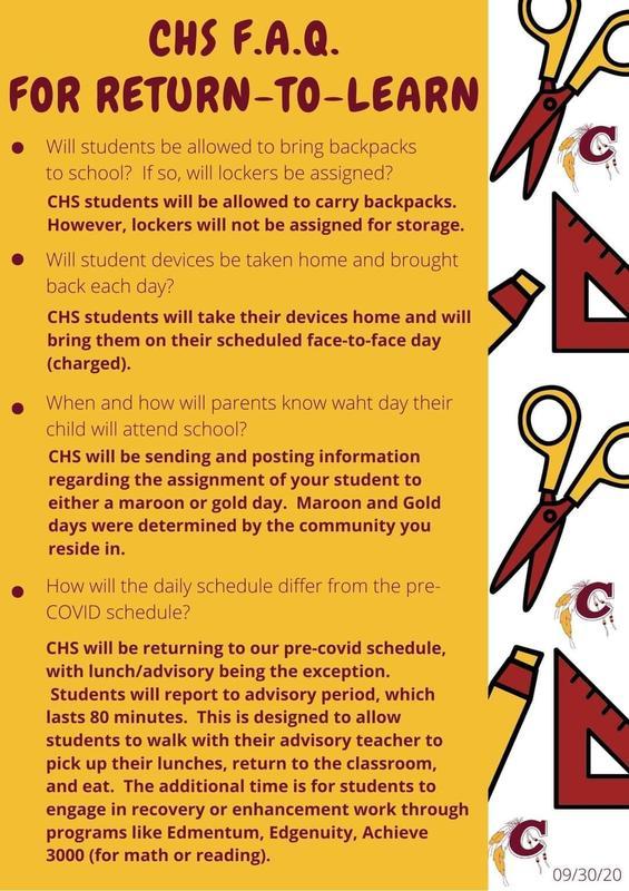 CHS FAQ Return to Learn