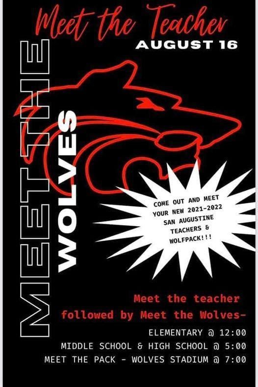 Meet the Teachers and Wolves Poster