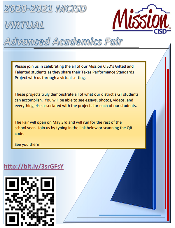 Advanced Academics fair flyer