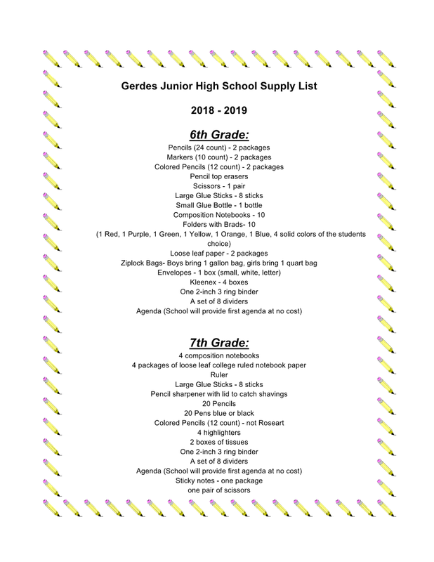 Gerder Junior High School Supply List - 2018-2019.png
