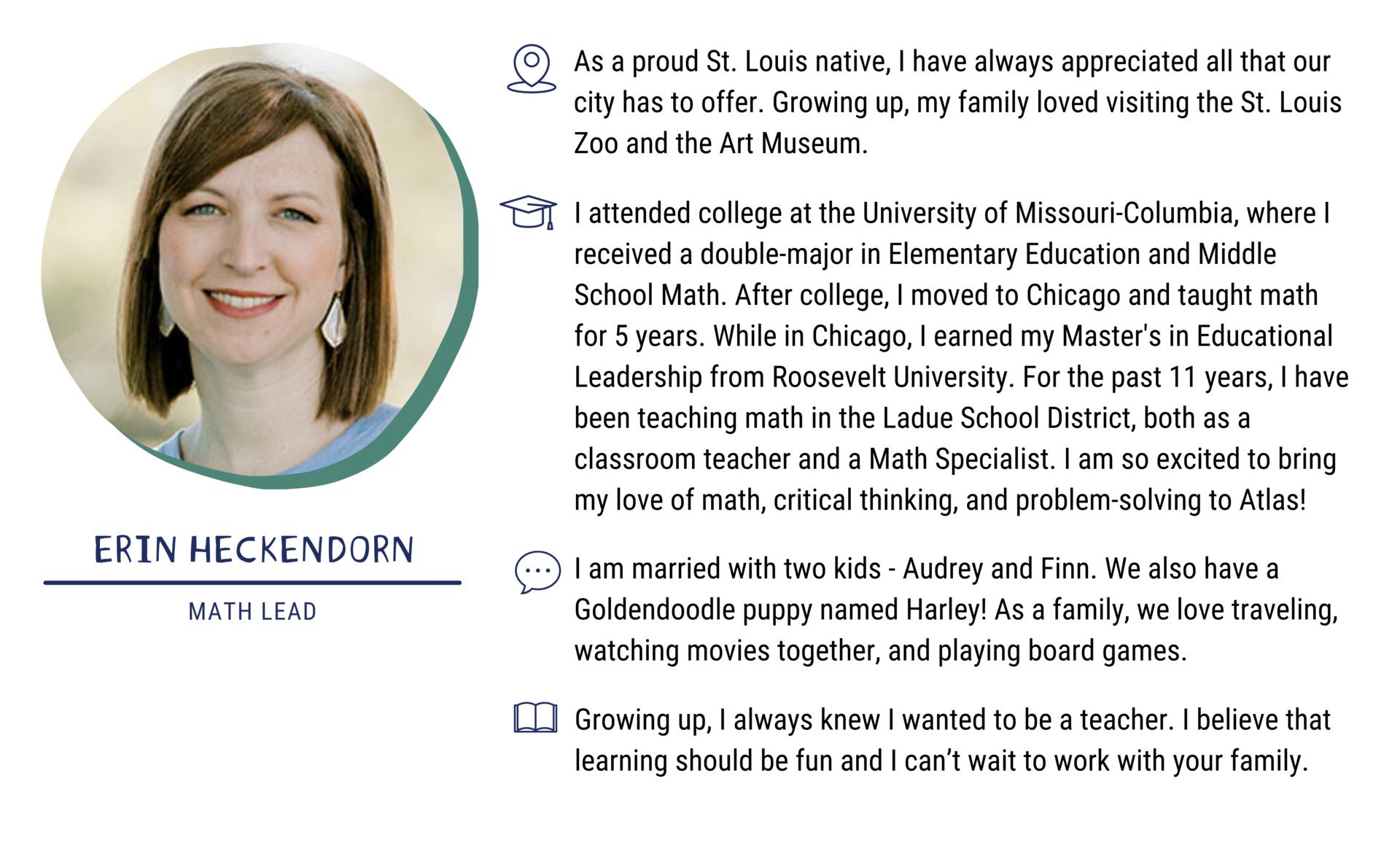 Erin Heckendorn, Math