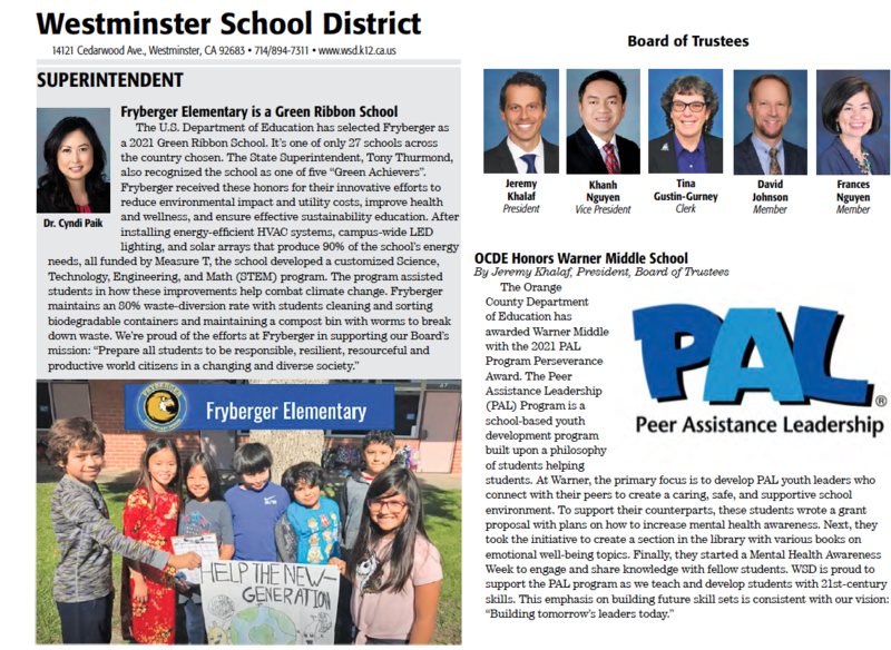 WSD School News June 2021