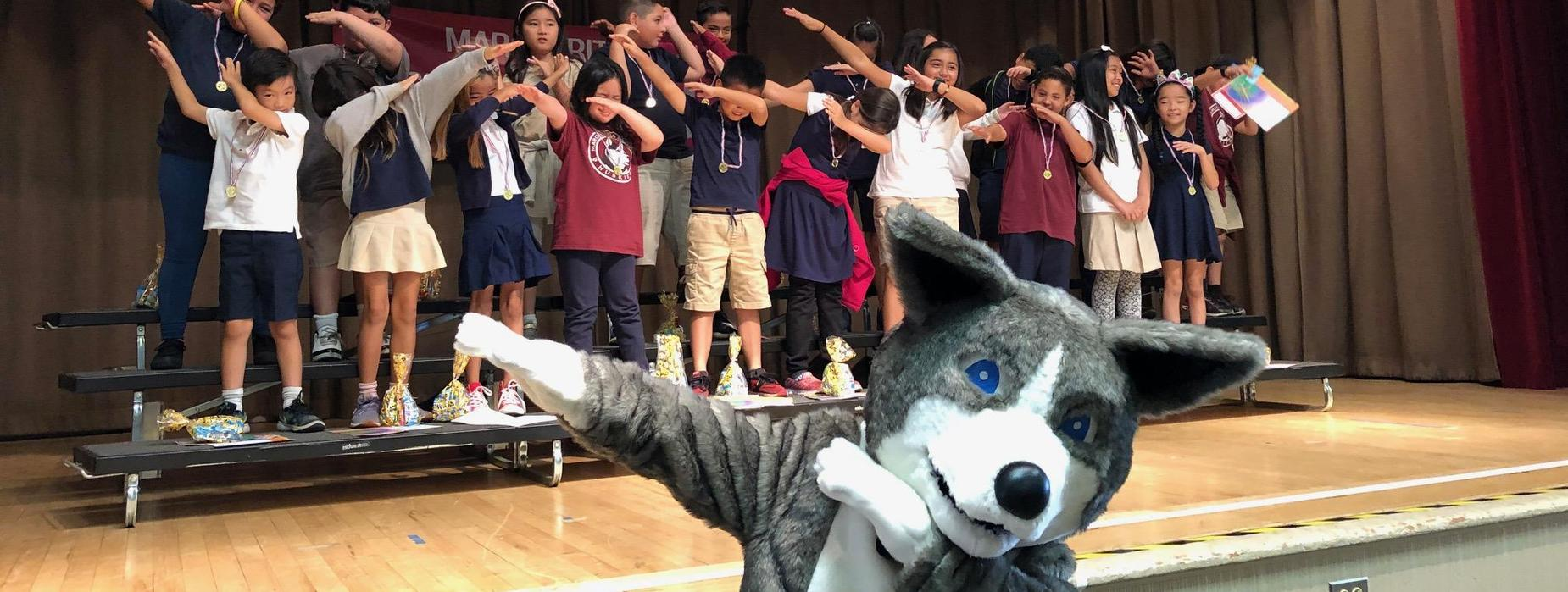 Marguerita Husky and students