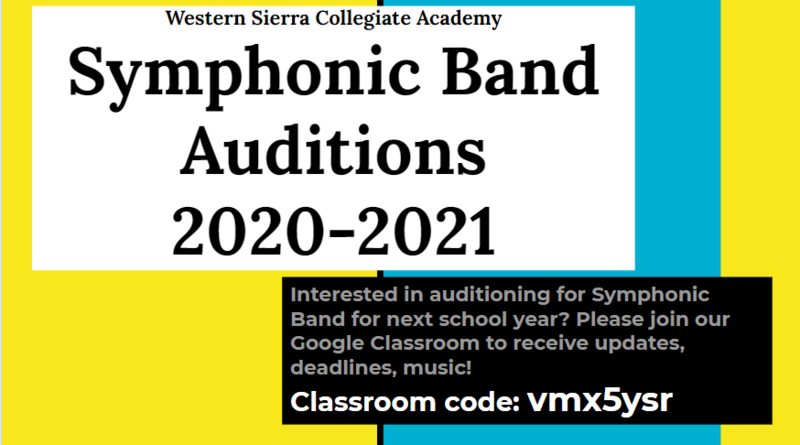 symphonic band auditions
