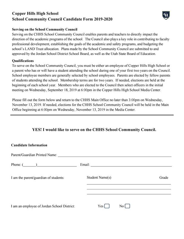 Candidate form
