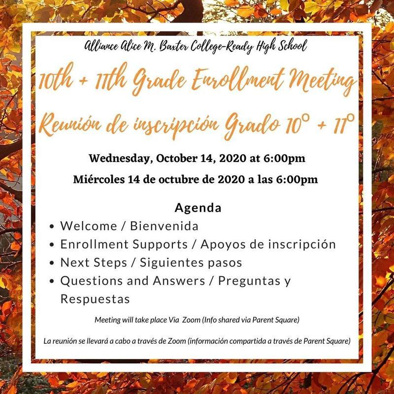 10th + 11th Grade Enrollment Meeting (CLICK TO VIEW MEETING) Thumbnail Image