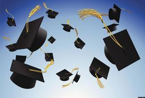 Picture of graduation caps