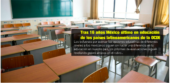 Tras 16 años México último en educación de los países latinoamericanos de la OCDE Featured Photo