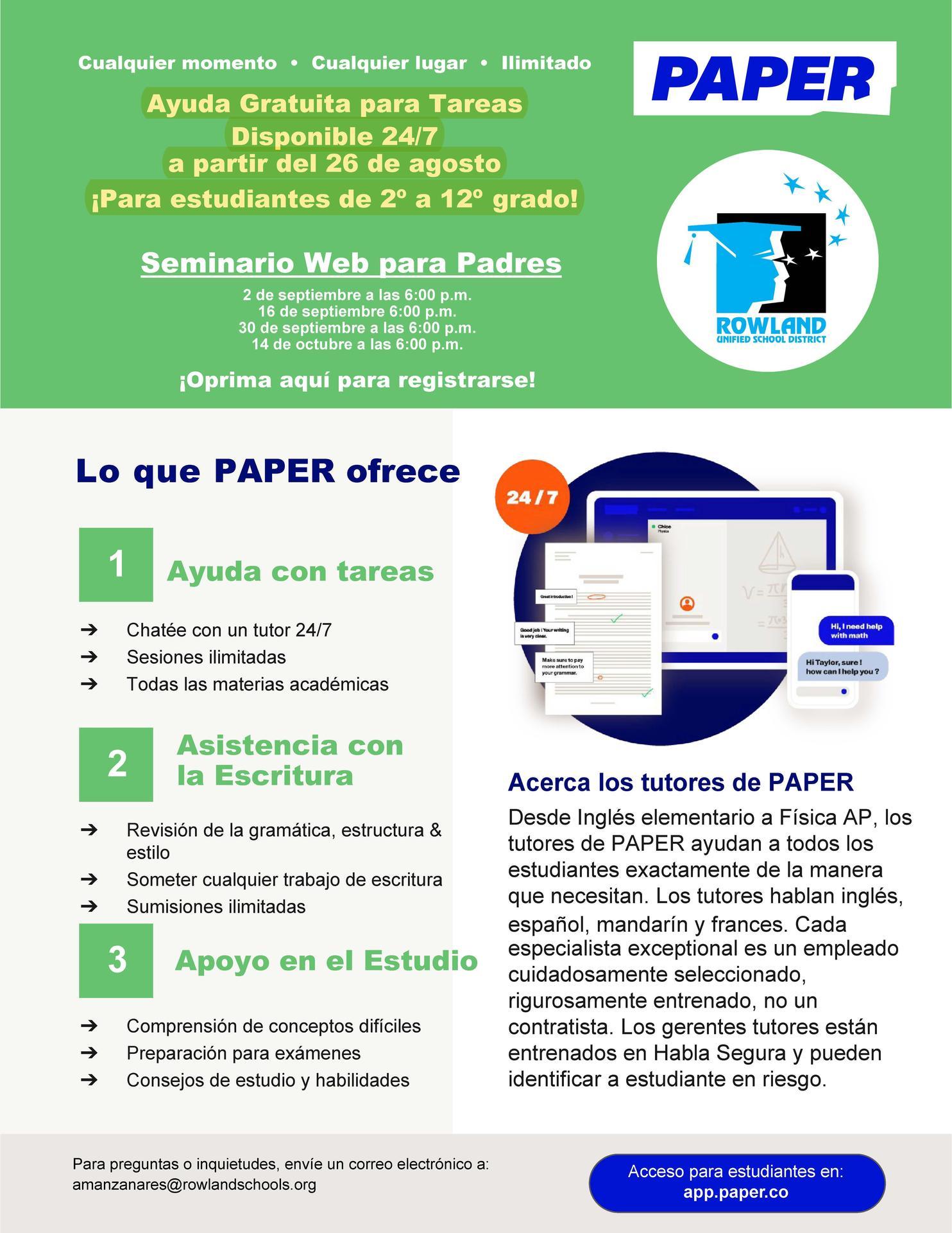 Spanish Tutor info