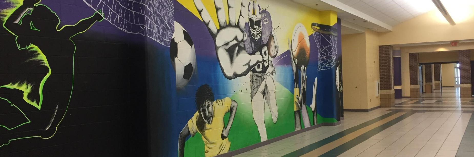 mhs sports mural