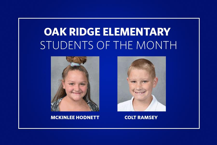 Oak Ridge Students of the Month