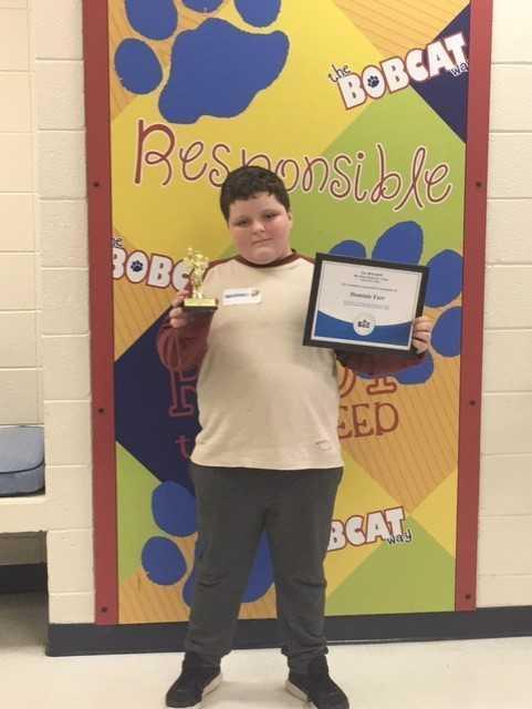 Congratulations to Dominic Farr, 4th Grade,  BRE's Spelling Bee Champion!