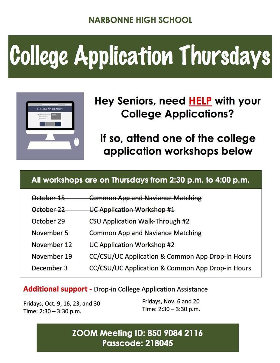 College Workshops
