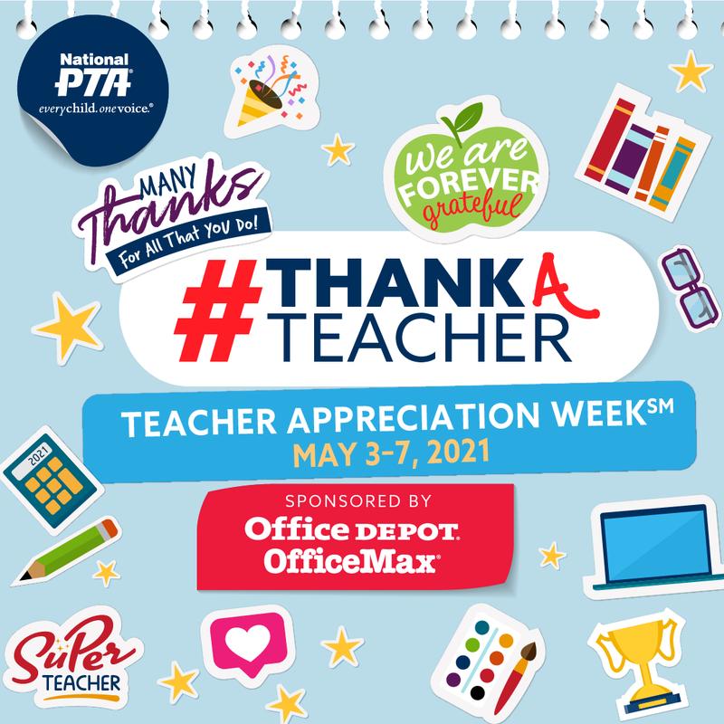 Flyer in English for Teacher Appreciation Week