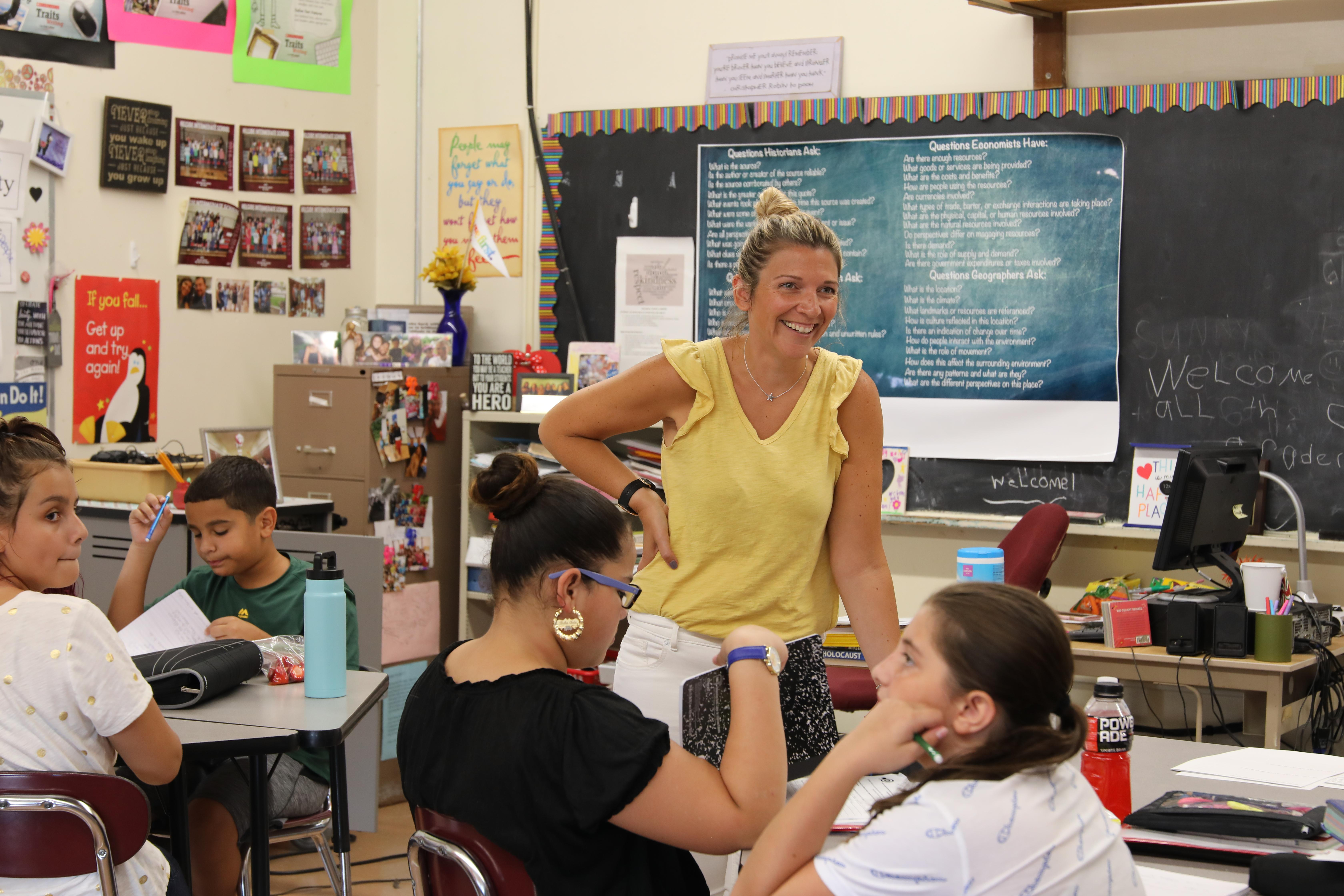 Teacher of the Year Katie Singley teaching in classroom