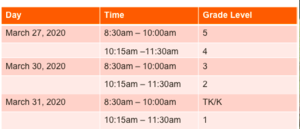 Norwood's Device Pick Up Schedule.png