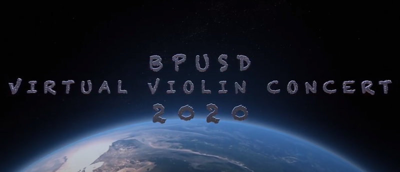 Elementary student-musicians showcase talent during Virtual Violin Concert.