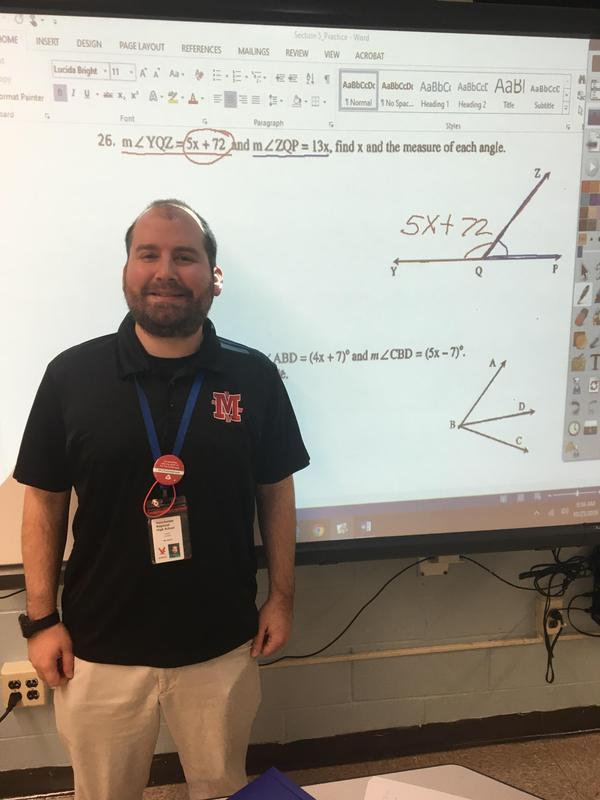Mr. James Hornby- Educator of the Month for September, 2019