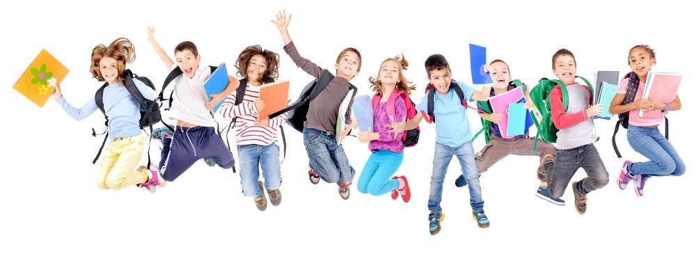 Kids Jumping in Excitement