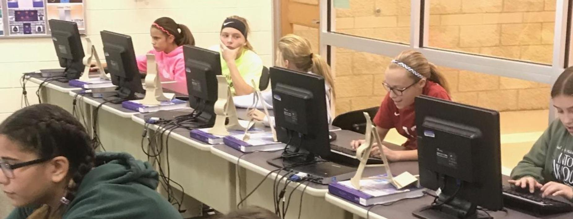 Computer class with Mr Loughran