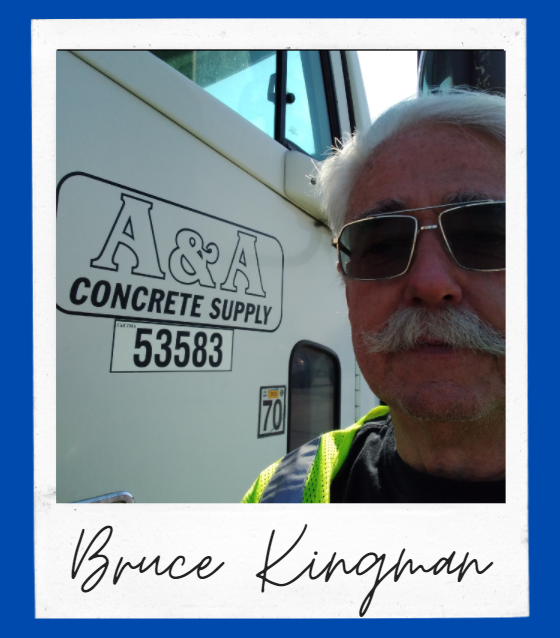 Bruce next to a truck