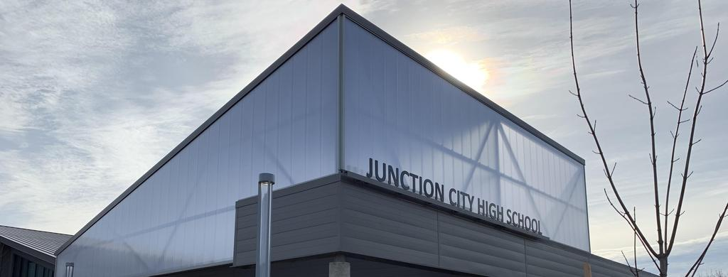 Front view of Junction City High School