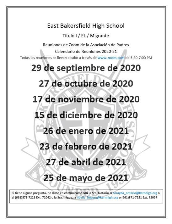 2020-21 meeting dates span