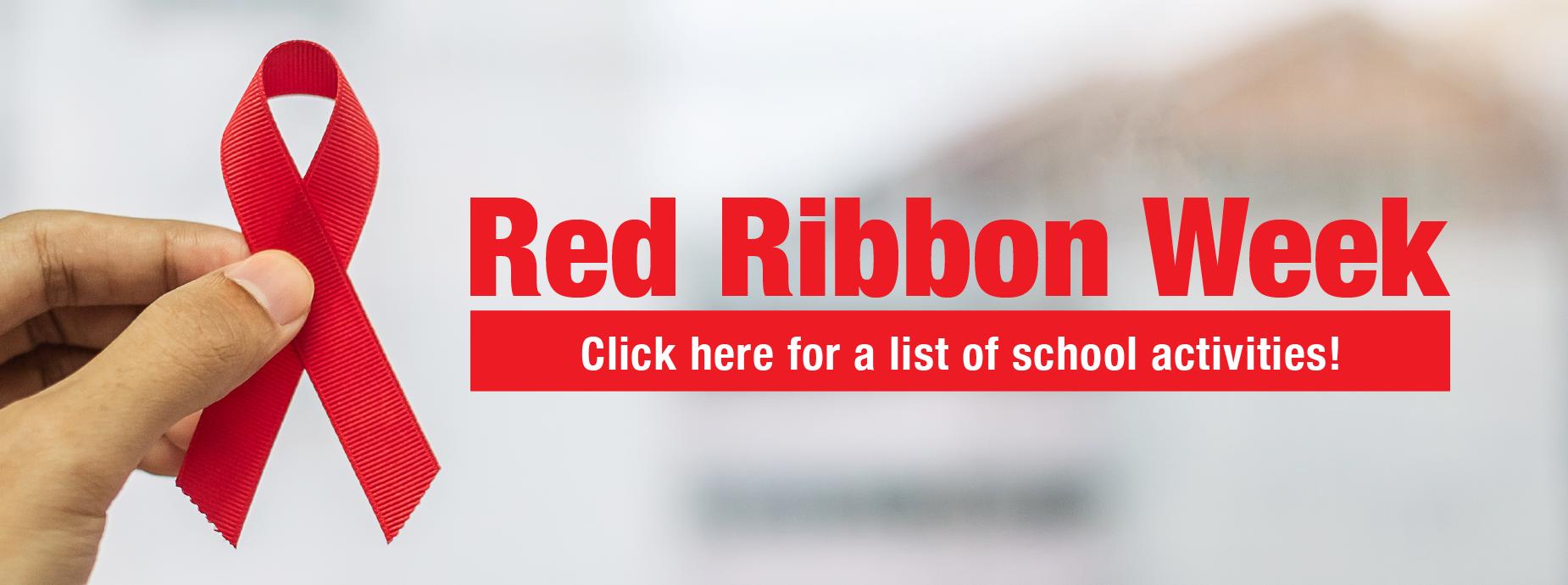 Red Ribbon Week 2020 Banner