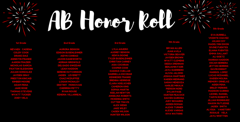 Great Job AB Honor Roll! Featured Photo