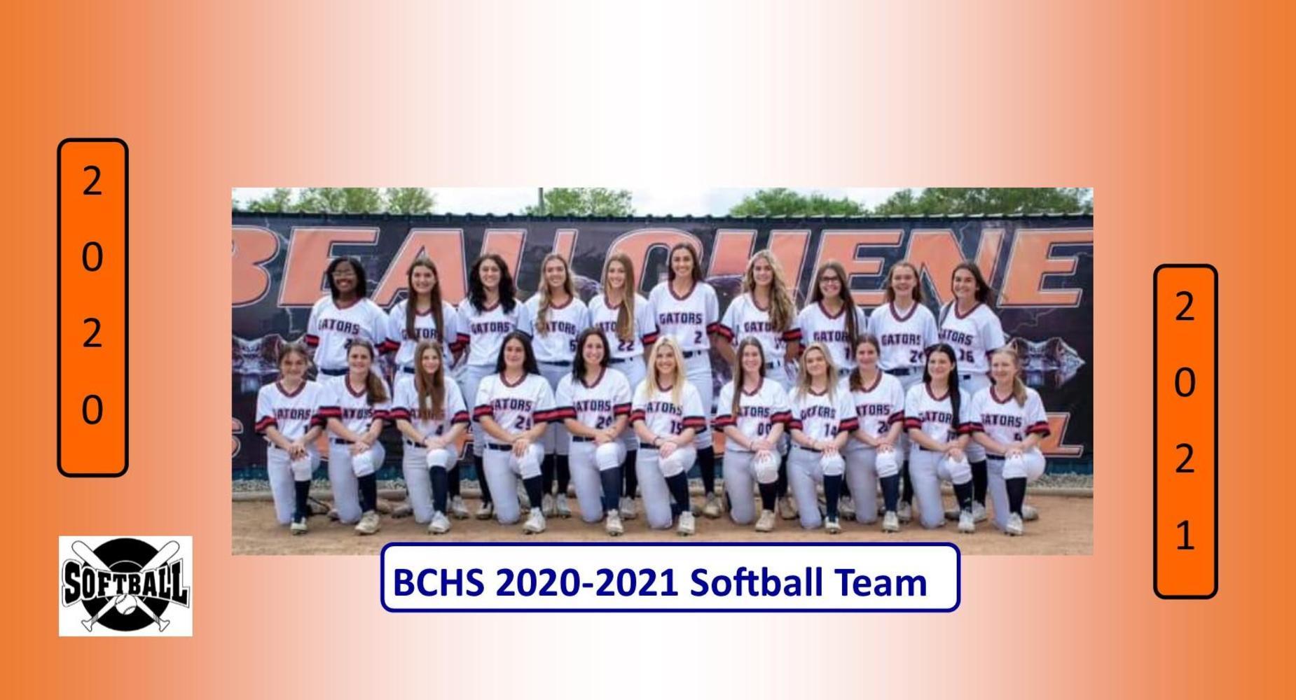 2020-2021 Softball Team