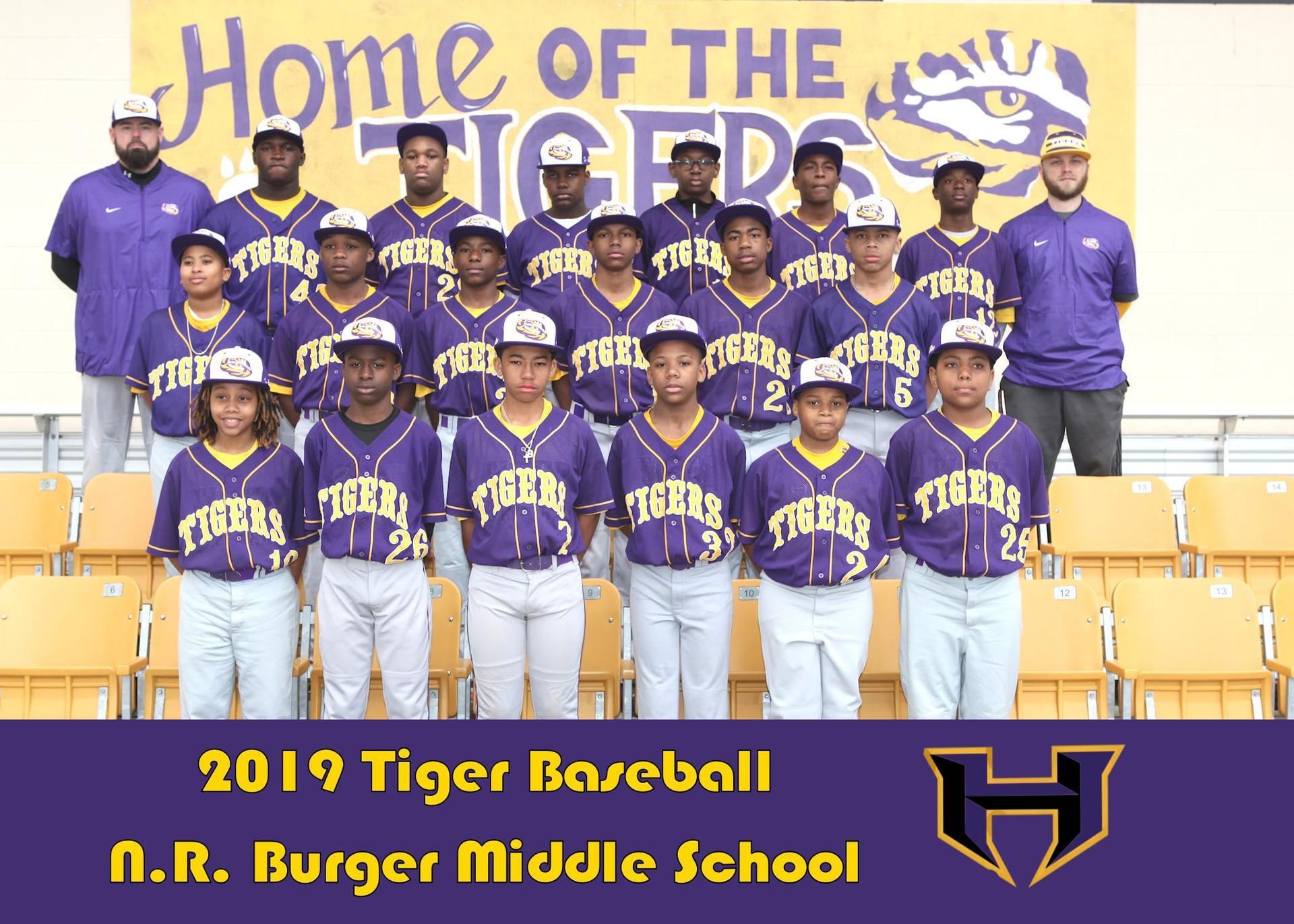 Burger Middle Baseball Team