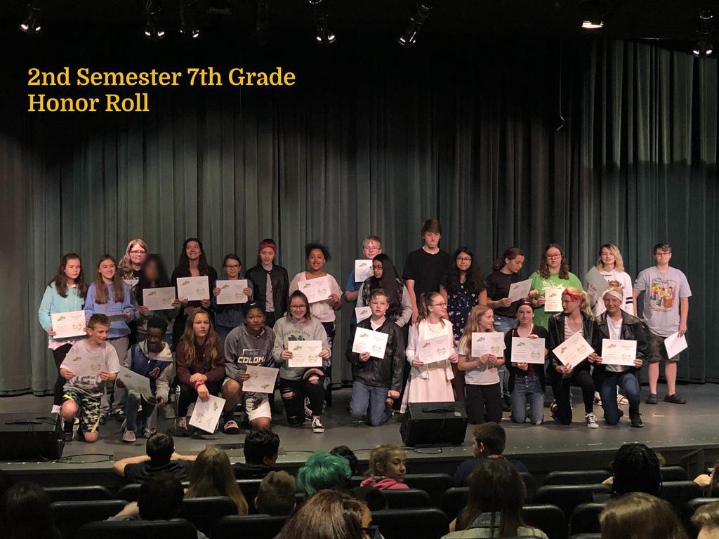 S2 7th Grade Honor Roll
