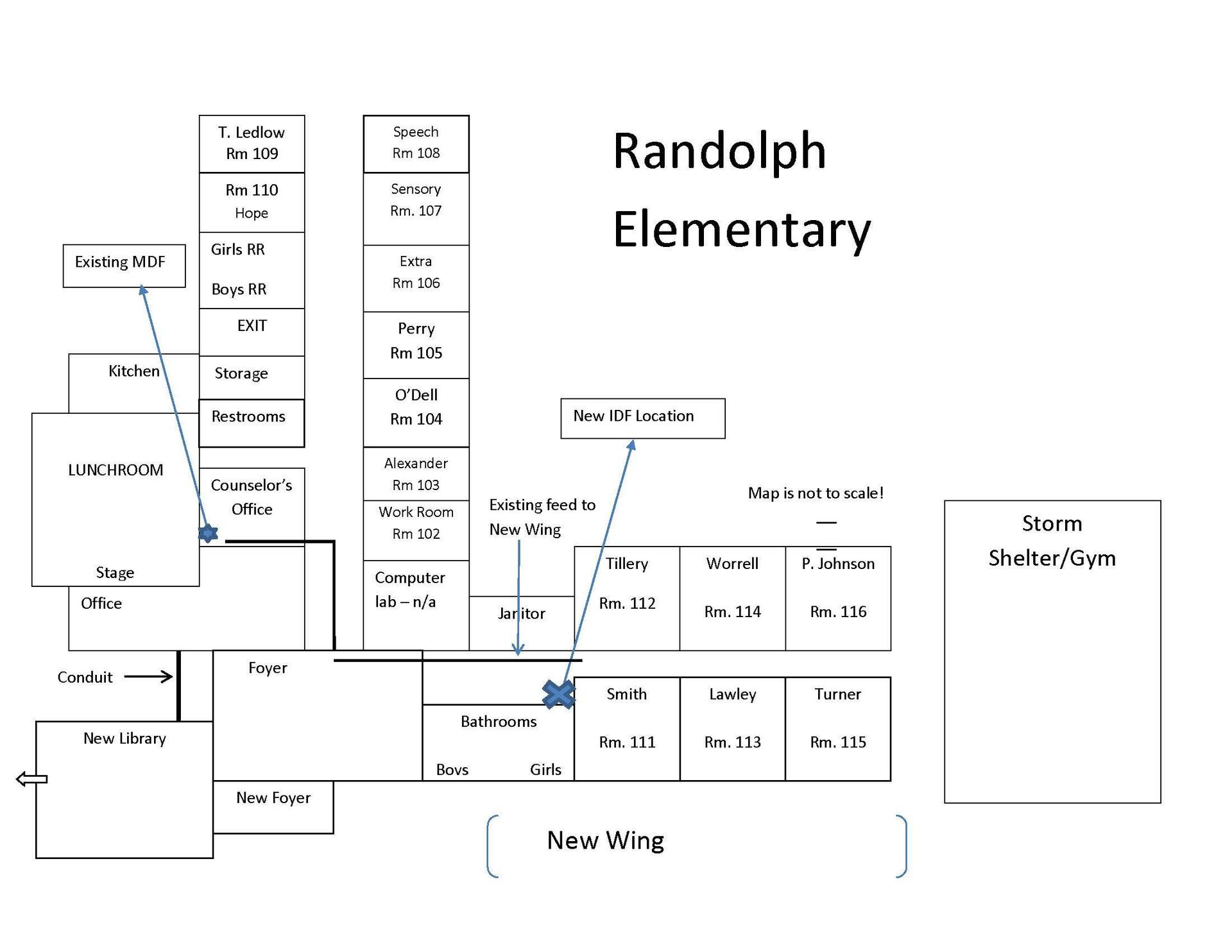 Randolph Elementary Floorplan with new IDF