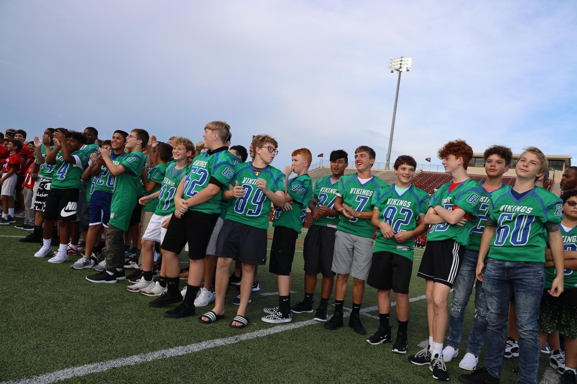Photo from the opening game of the 2019 Varsity Deer football season!