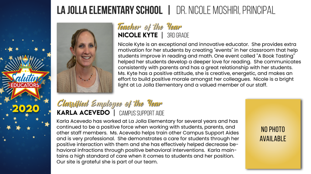 La Jolla Elementary Employees of the Year