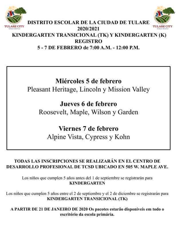 Registration Information - Spanish