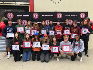 Palos Verdes HS celebrates 17 Student Athletes for NLI Signing Day