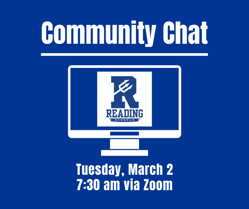 Community Chat Tuesday, March 2 at 7:30 am via Zoom