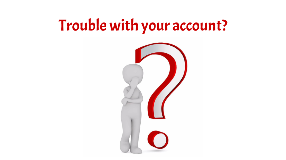 white vector graphics person with red question mark