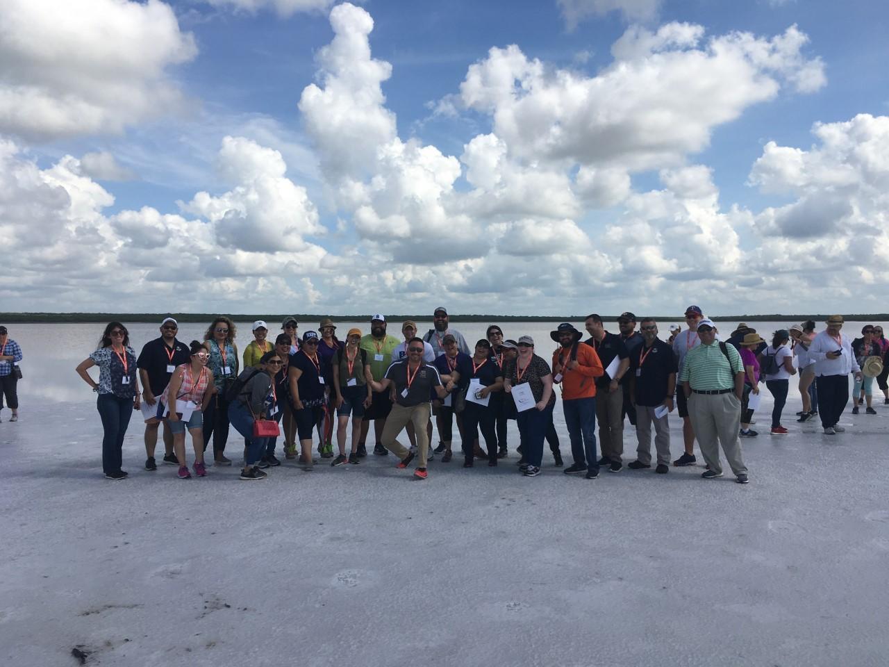 Group Photo of whole group along the lakeshore
