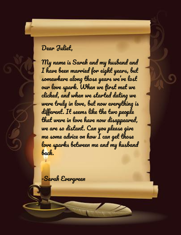 Letter to Juliet from Sarah Evergreen