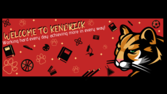 Kendrick Elementary Banner with school mascot (cougar).