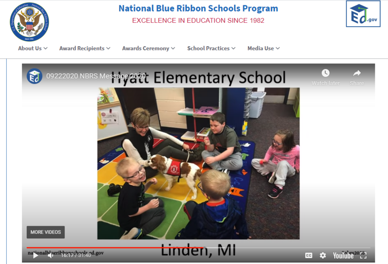 Hyatt Elementary Receives Blue Ribbon Award 2020! Thumbnail Image