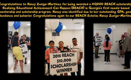 Reach Scholarship winner