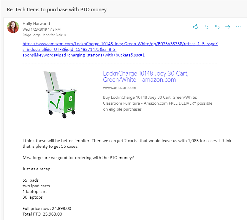 Purchasing Email