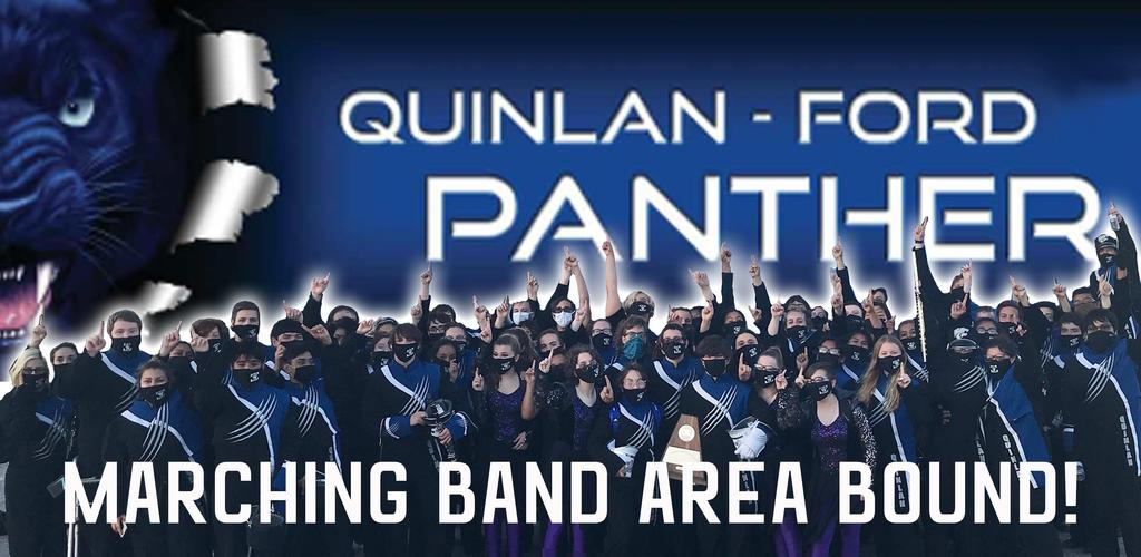 Quinlan Ford Panther Marching Band Area Bound!
